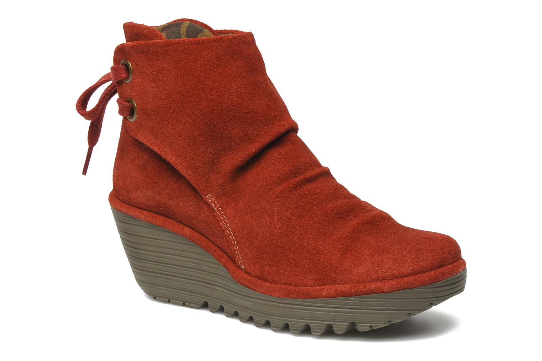 Stiefeletten & Boots Fly London Yama rot detaillierte ansicht/modell