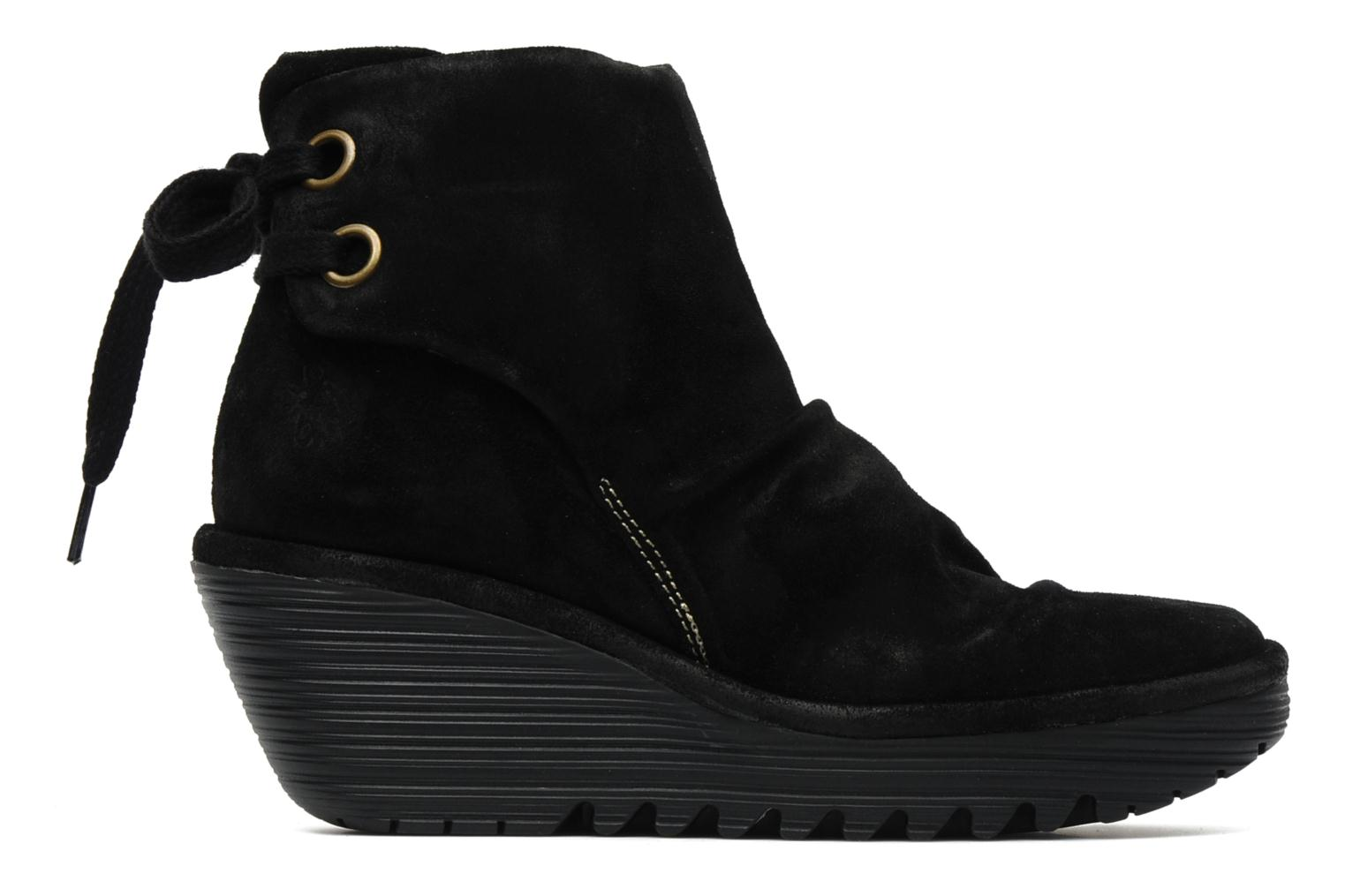 Ankle boots Fly London Yama Black back view