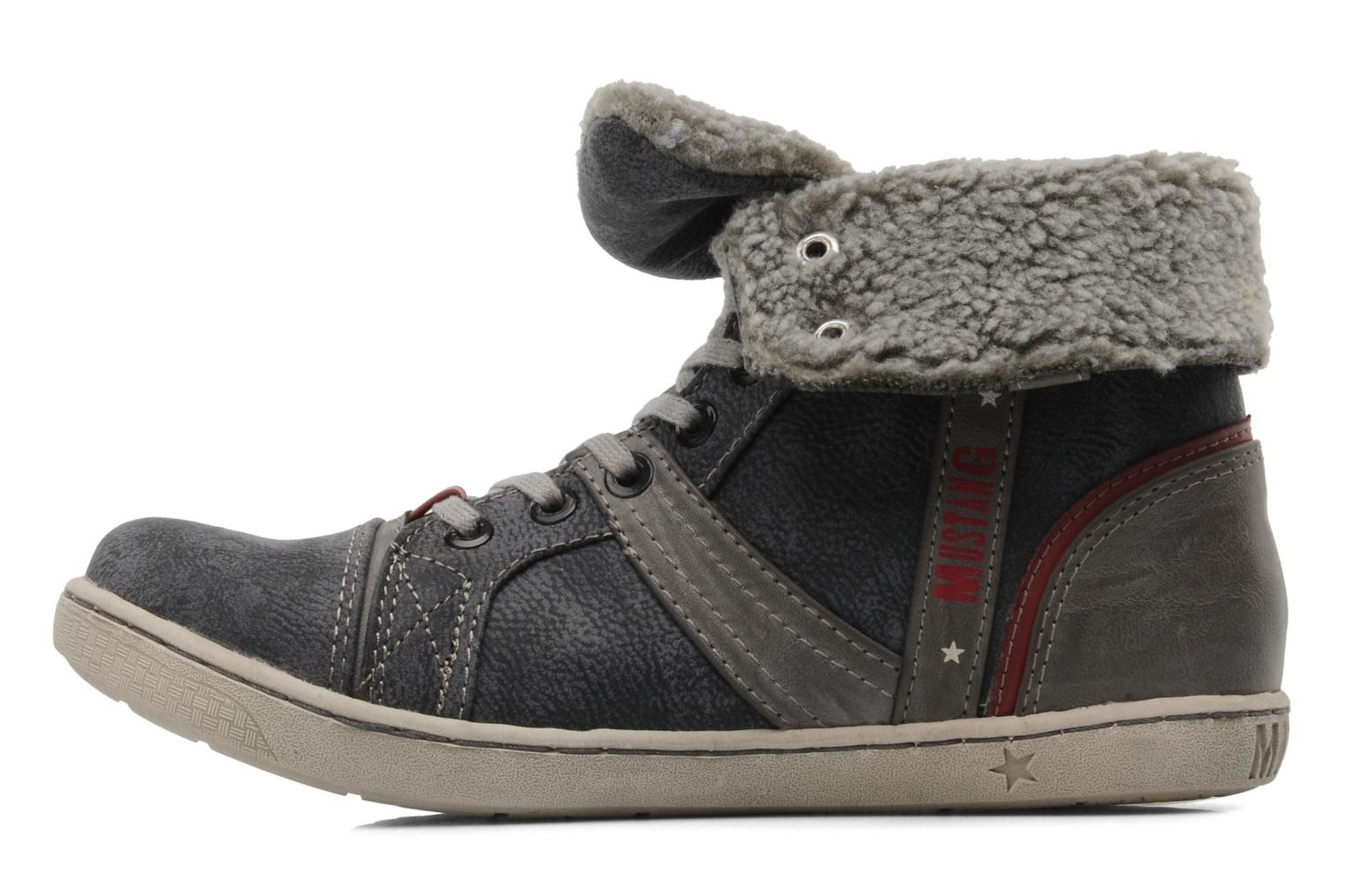Trainers Mustang shoes Mukki Grey front view