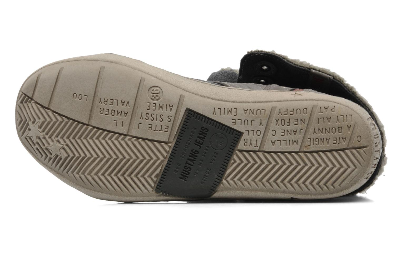 Sneaker Mustang shoes Mukki grau ansicht von oben