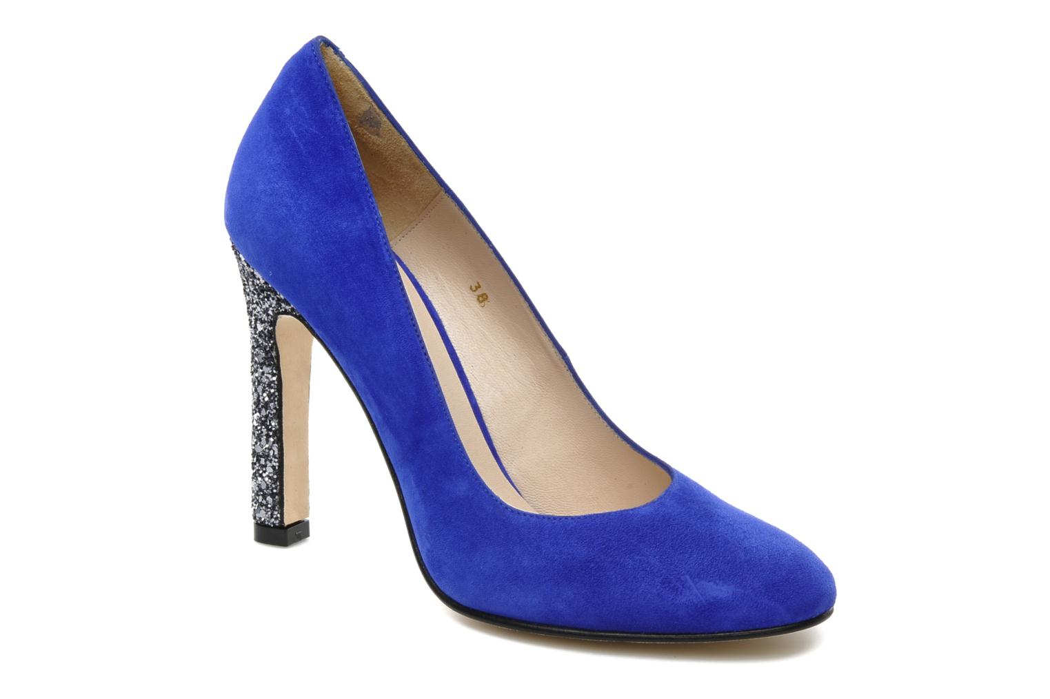 High heels Mellow Yellow Orambo Blue detailed view/ Pair view