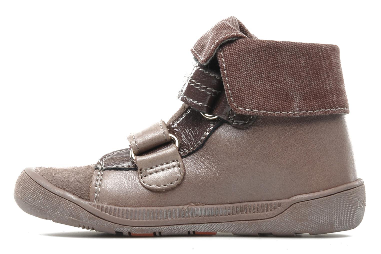 Chaussures à scratch Babybotte actor F Violet vue face