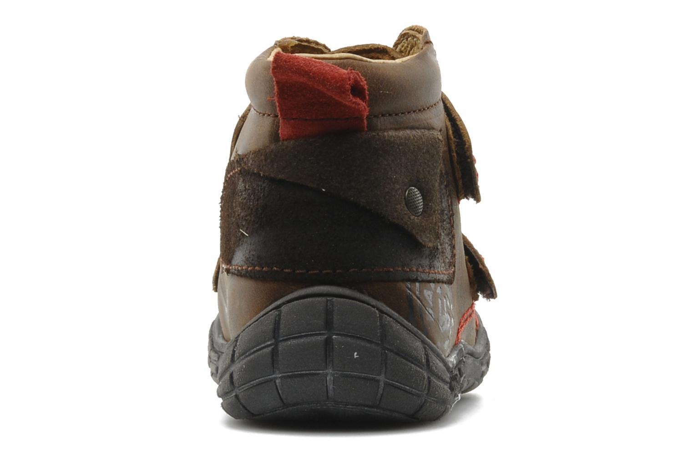 Chaussures à scratch Babybotte Aligator Marron vue droite