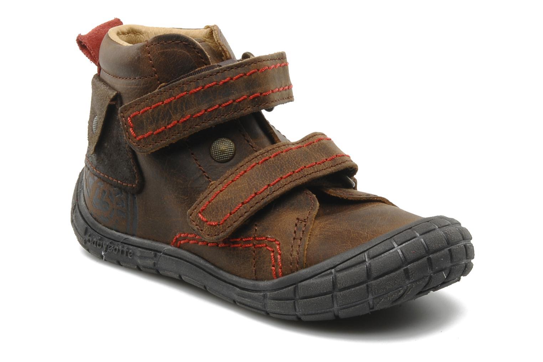 Chaussures à scratch Babybotte Aligator Marron vue détail/paire