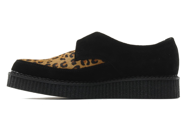 Chaussures à lacets T.U.K. Pointed Lo Buccle Noir vue face