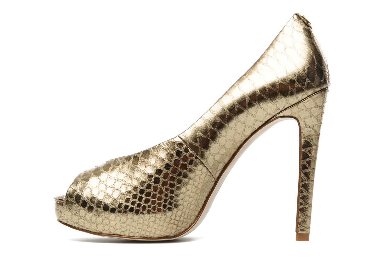 Zapatos de tacón Guess Hytner2 Oro y bronce vista de frente