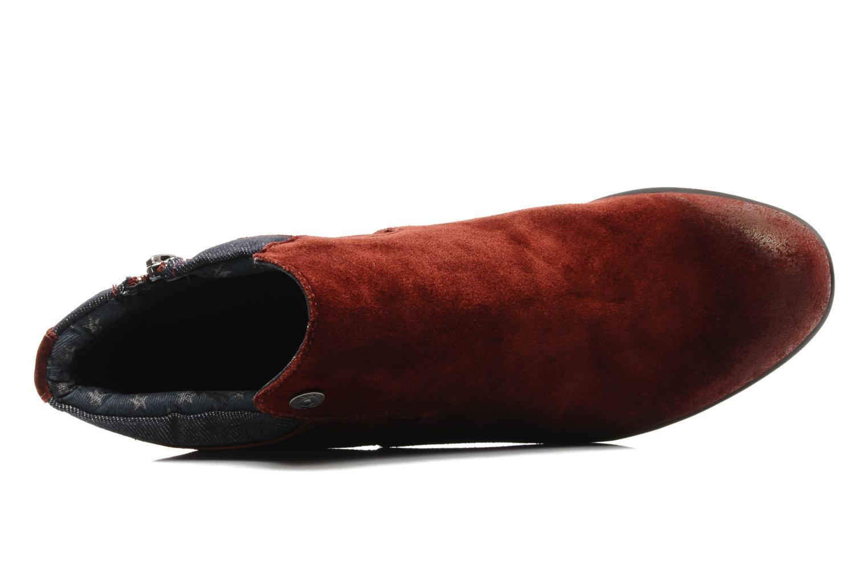 Stiefeletten & Boots Tommy Hilfiger JADE 4 B rot ansicht von links