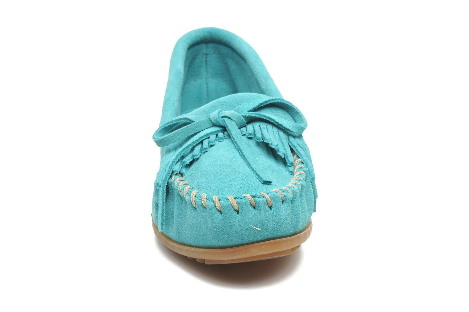KILTY SUEDE MOC TURQUOISE SUEDE