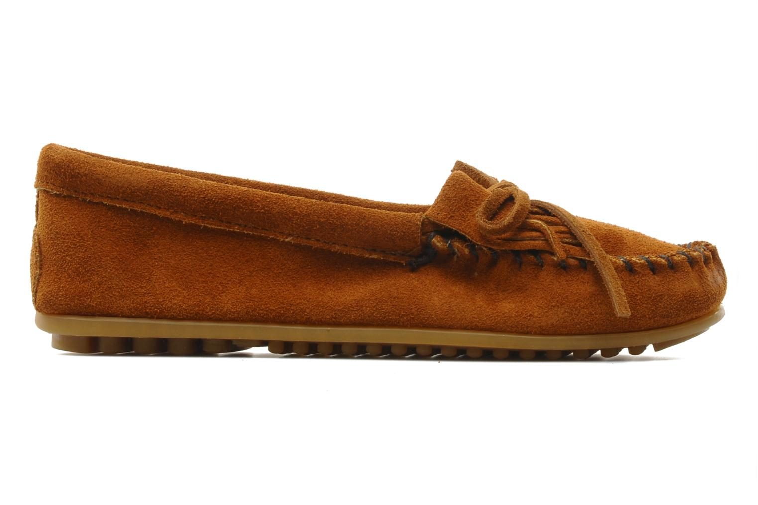 Loafers Minnetonka KILTY SUEDE MOC Brown back view