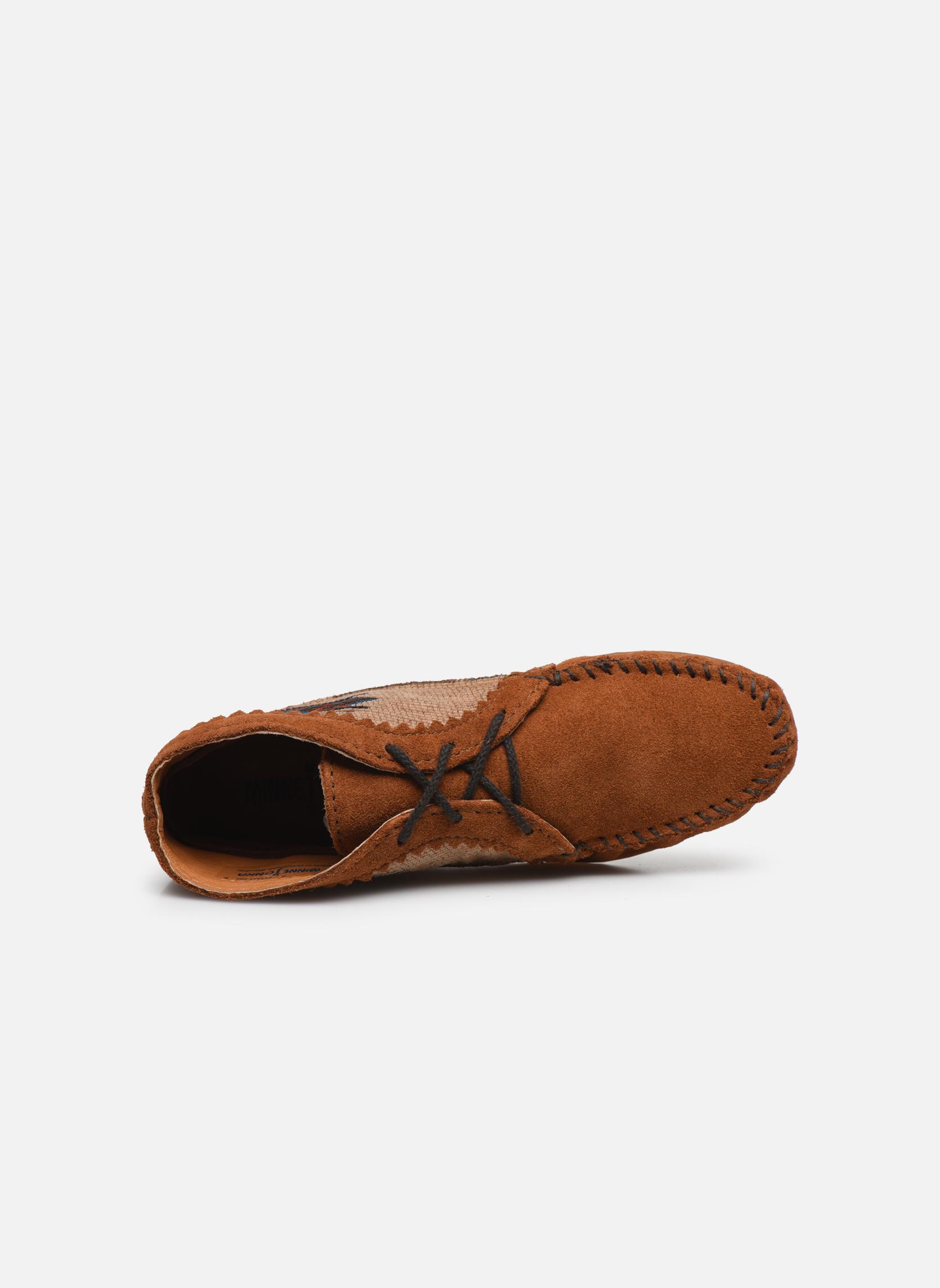 Boots en enkellaarsjes Minnetonka EL PASO ANKLE BOOT Bruin links