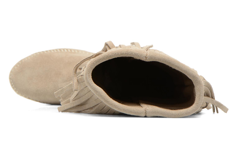Stiefeletten & Boots Minnetonka 3 LAYER FRINGE BOOT beige ansicht von links