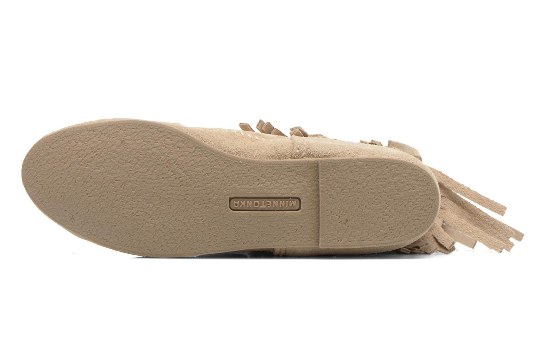 Stiefeletten & Boots Minnetonka 3 LAYER FRINGE BOOT beige ansicht von oben