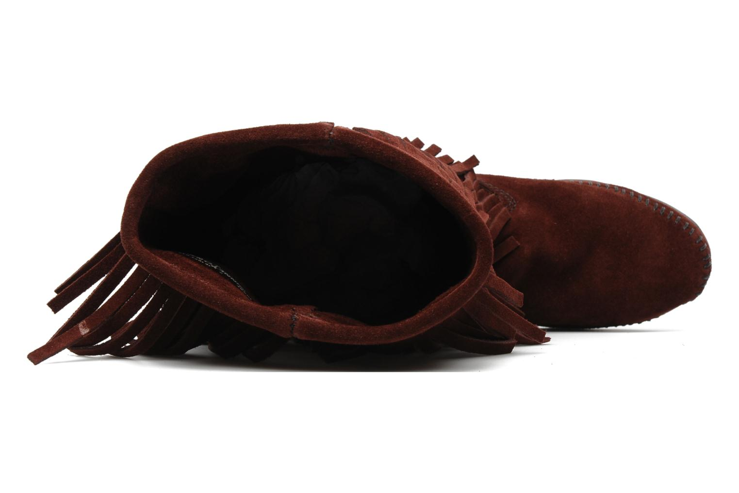 Ankle boots Minnetonka 3 LAYER FRINGE BOOT Burgundy view from the left