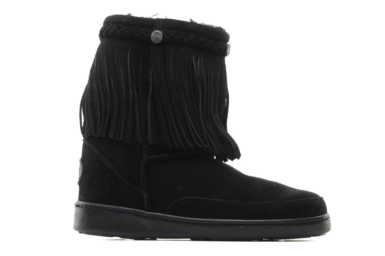 Ankle boots Minnetonka FRINGE CLASSIC PUG BT Black back view