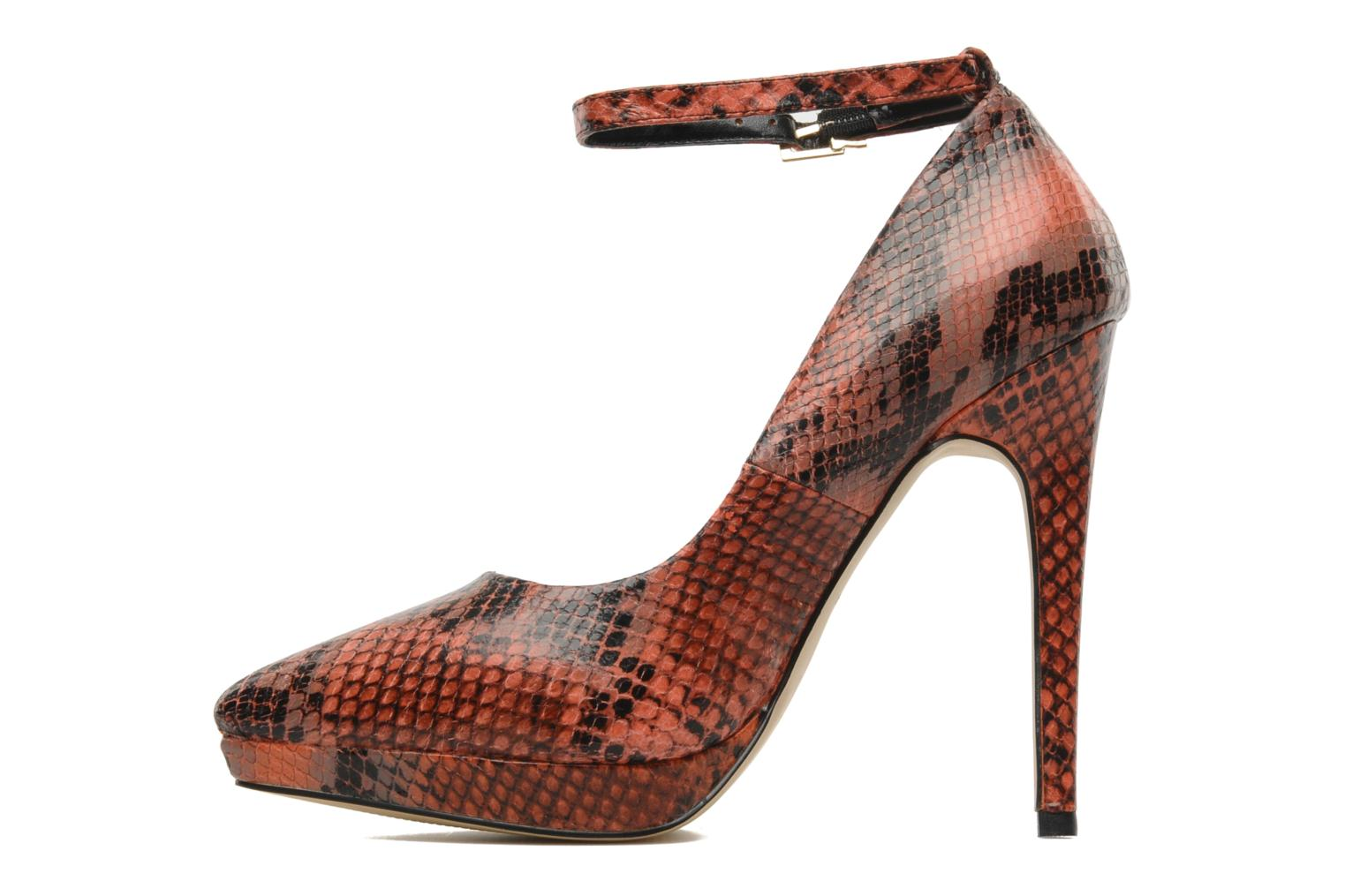 ANNIE RED SNAKE LEATHER
