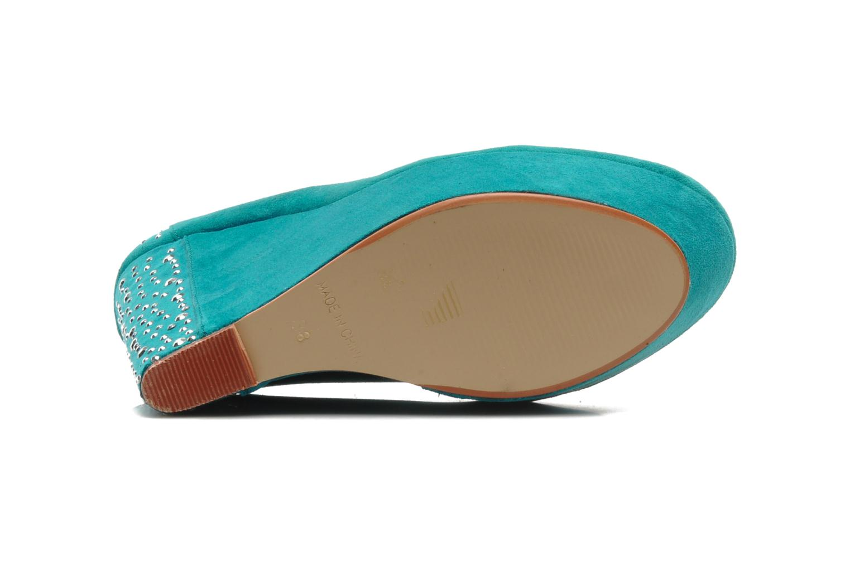 Escarpins I Love Shoes Nydo Bleu vue haut
