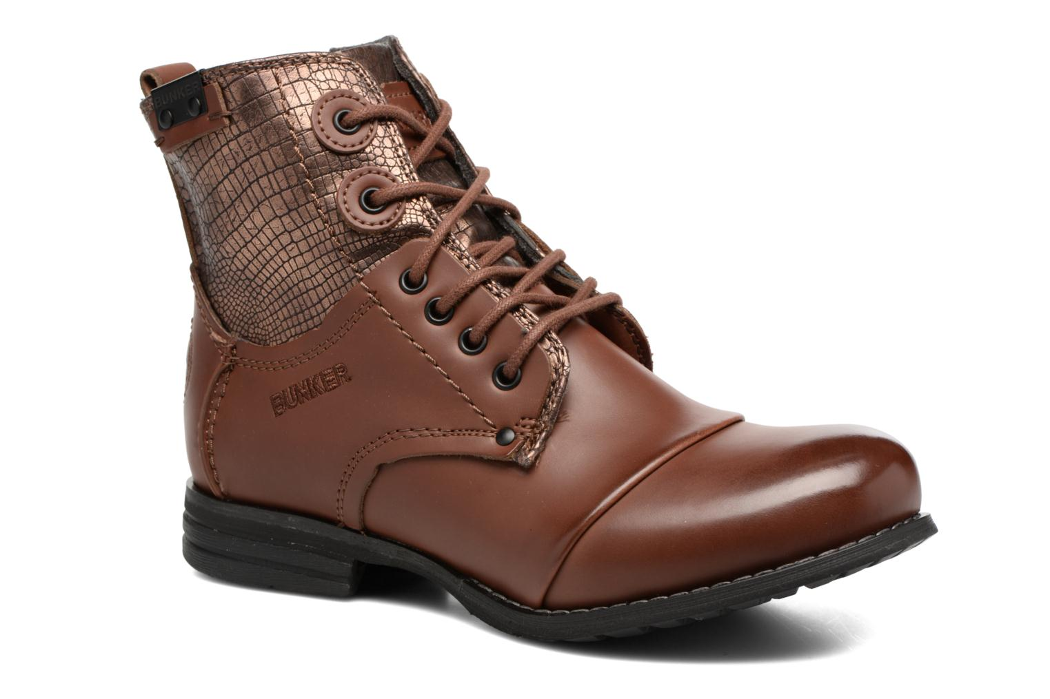 Ankle boots Bunker Sara sar Brown detailed view/ Pair view