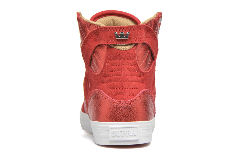 Sneakers Supra Skytop w Rood rechts