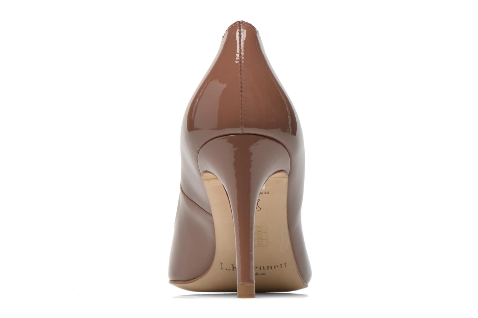High heels L.K. Bennett Floret Brown view from the right