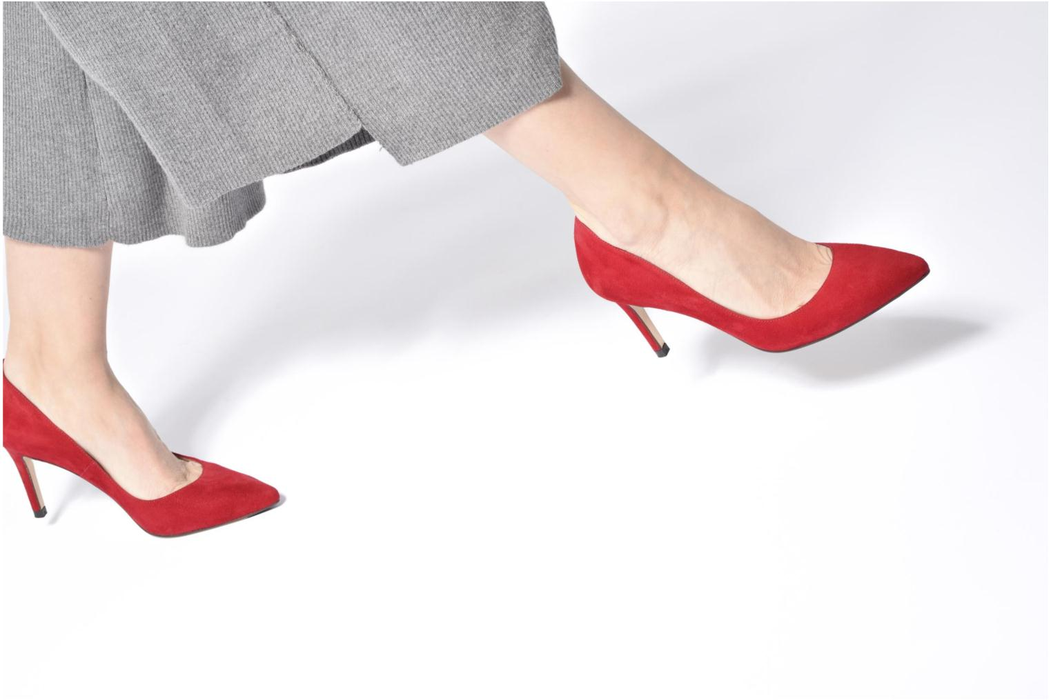 High heels L.K. Bennett Floret Red view from underneath / model view