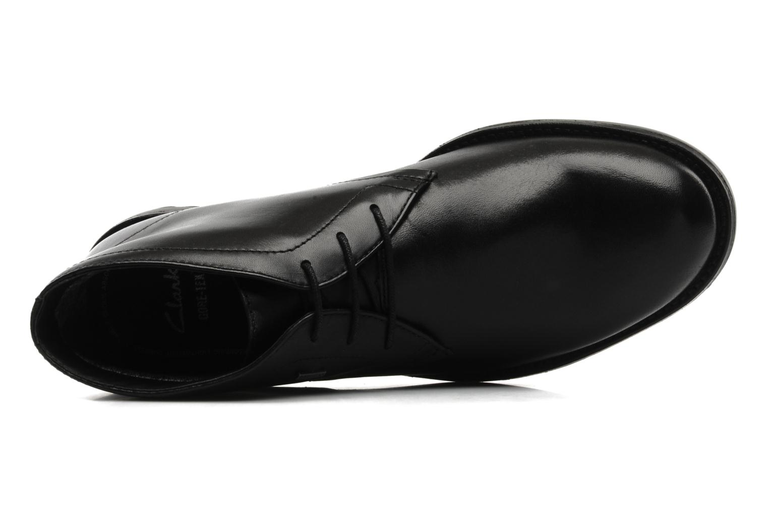 Lace-up shoes Clarks GlenmoreHi GTX Black view from the left