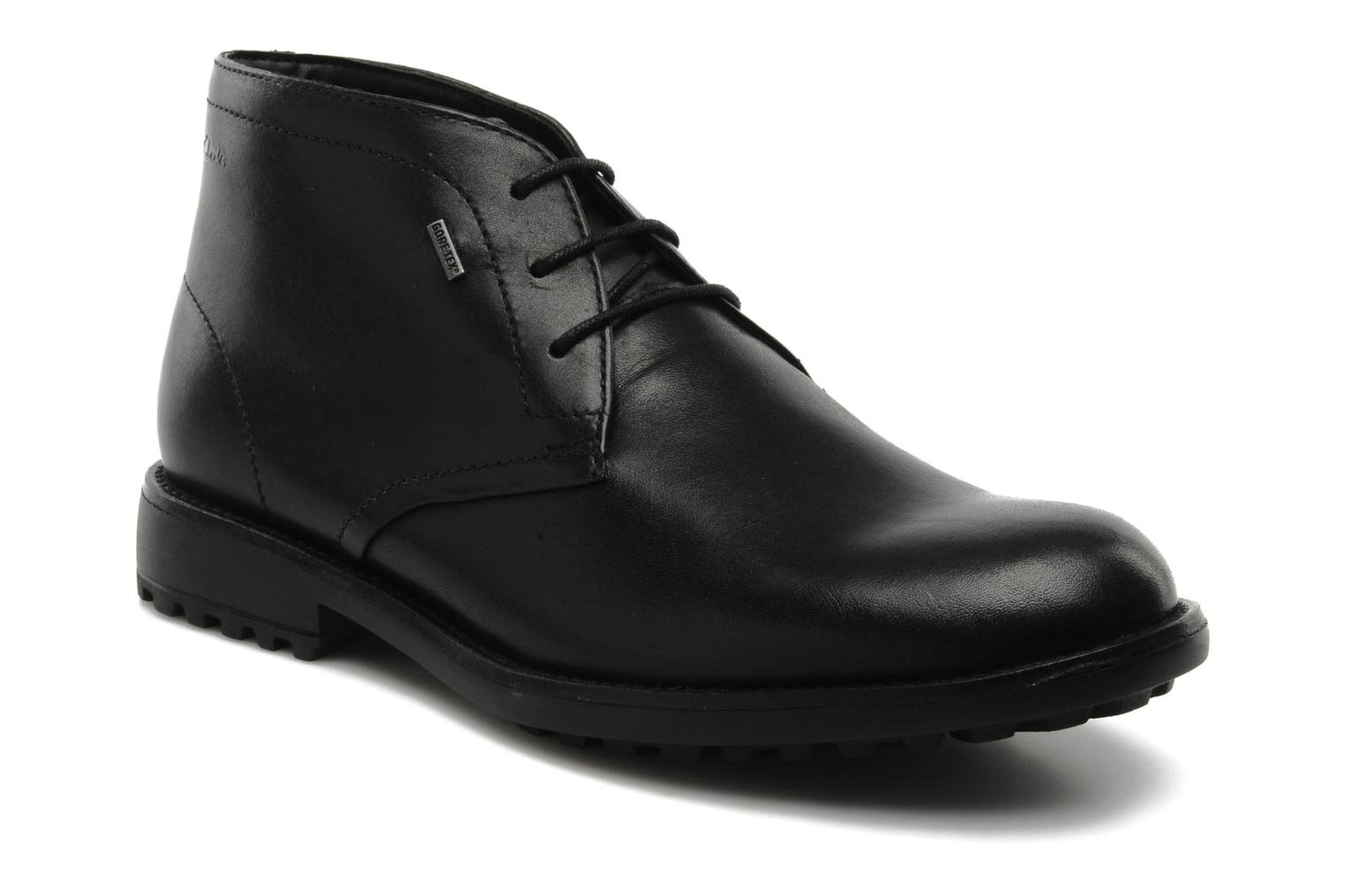 Lace-up shoes Clarks GlenmoreHi GTX Black detailed view/ Pair view