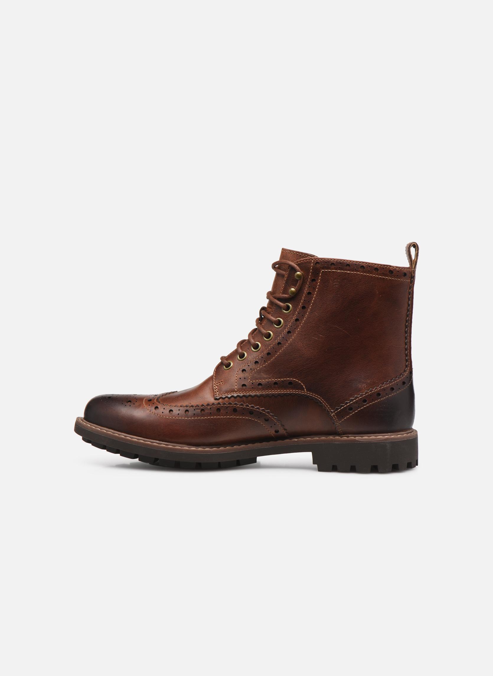 Boots en enkellaarsjes Clarks Montacute Lord Bruin voorkant