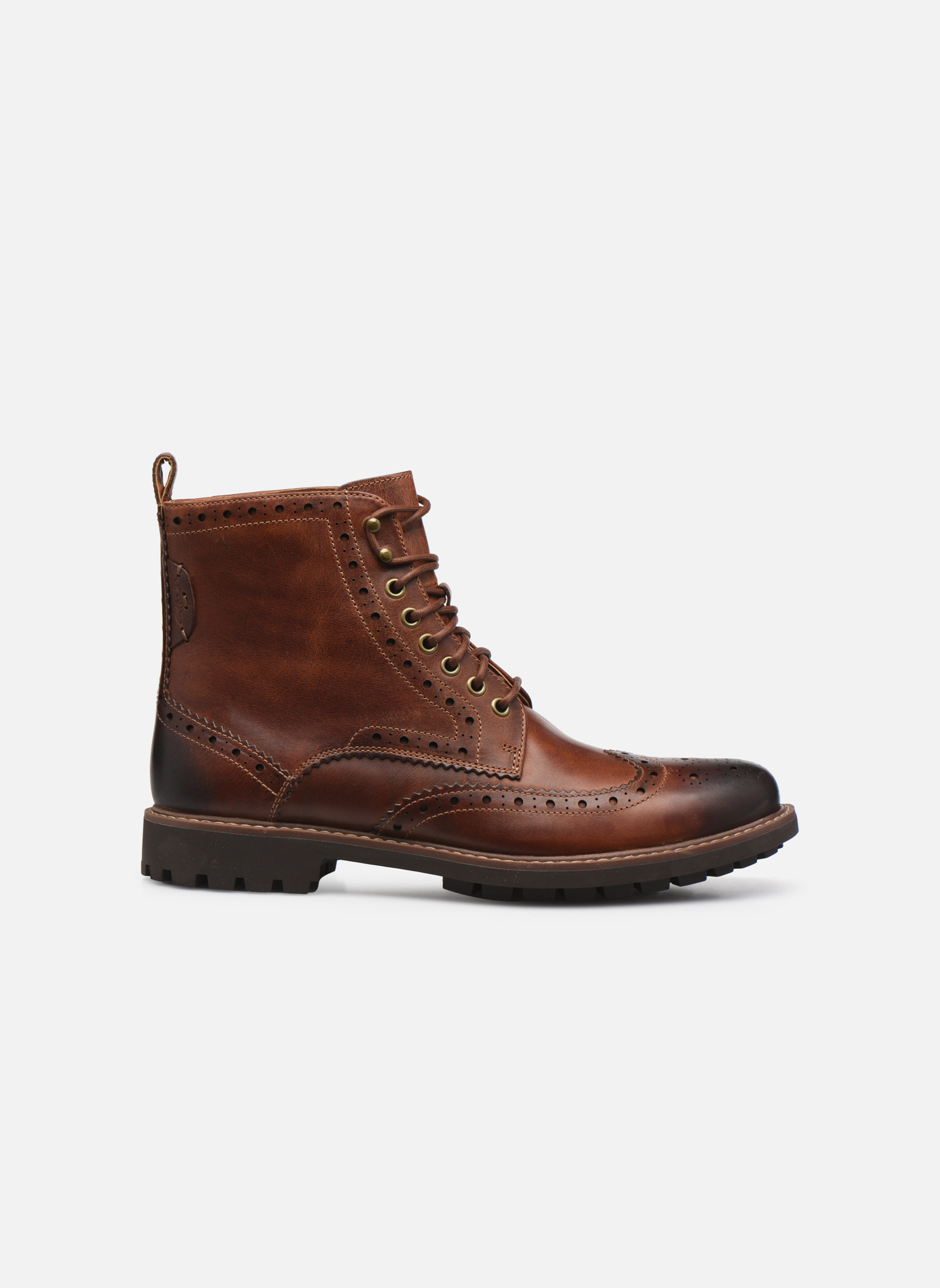 Bottines et boots Clarks Montacute Lord Marron vue derrière