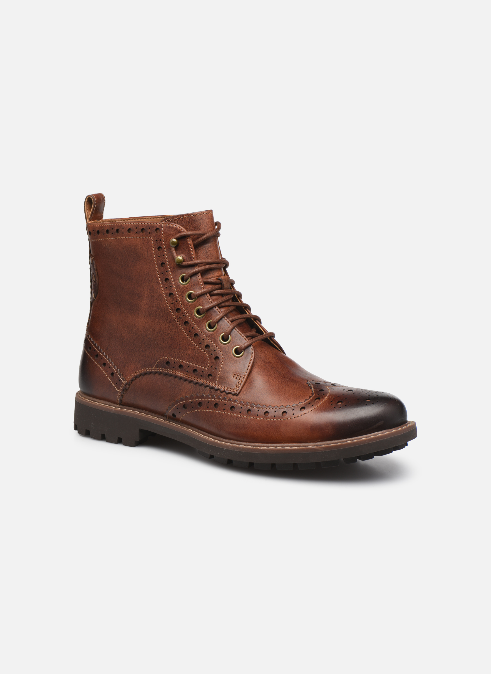 Bottines et boots Clarks Montacute Lord Marron vue détail/paire