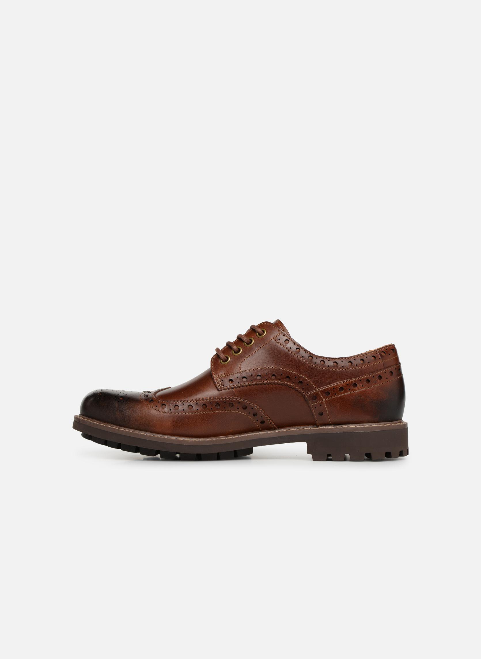 Chaussures à lacets Clarks Montacute Wing Marron vue face