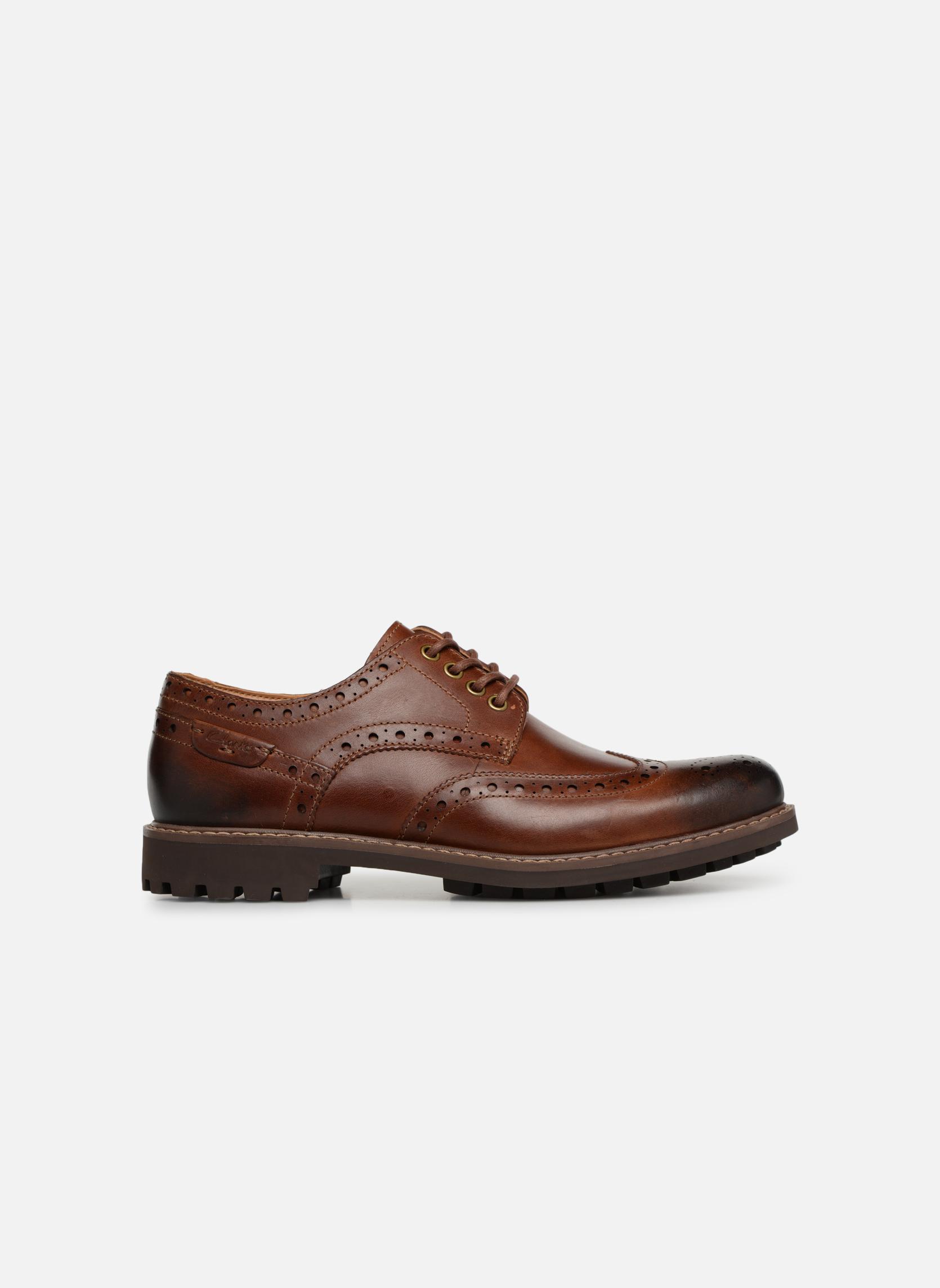 Chaussures à lacets Clarks Montacute Wing Marron vue derrière