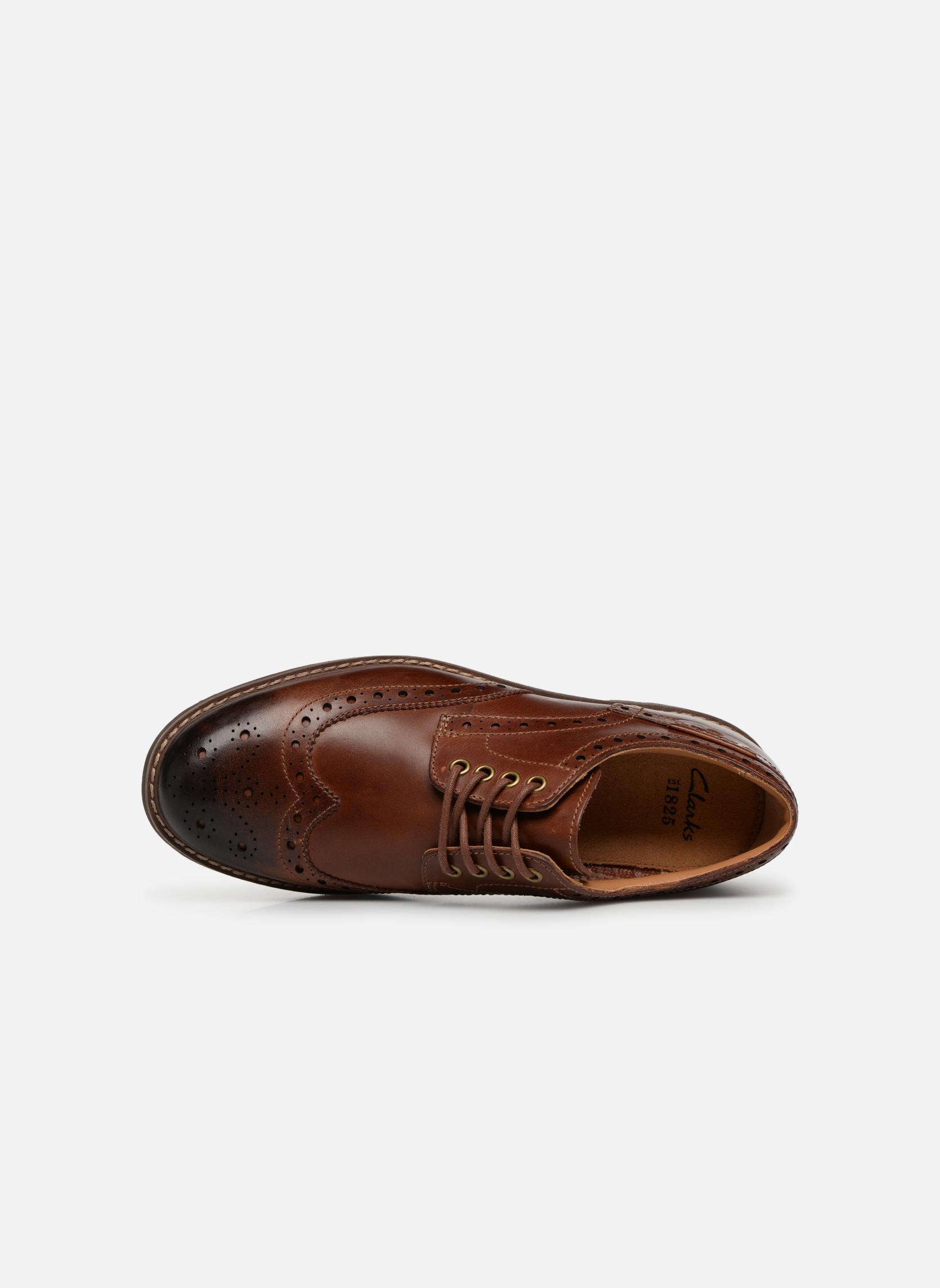 Chaussures à lacets Clarks Montacute Wing Marron vue gauche
