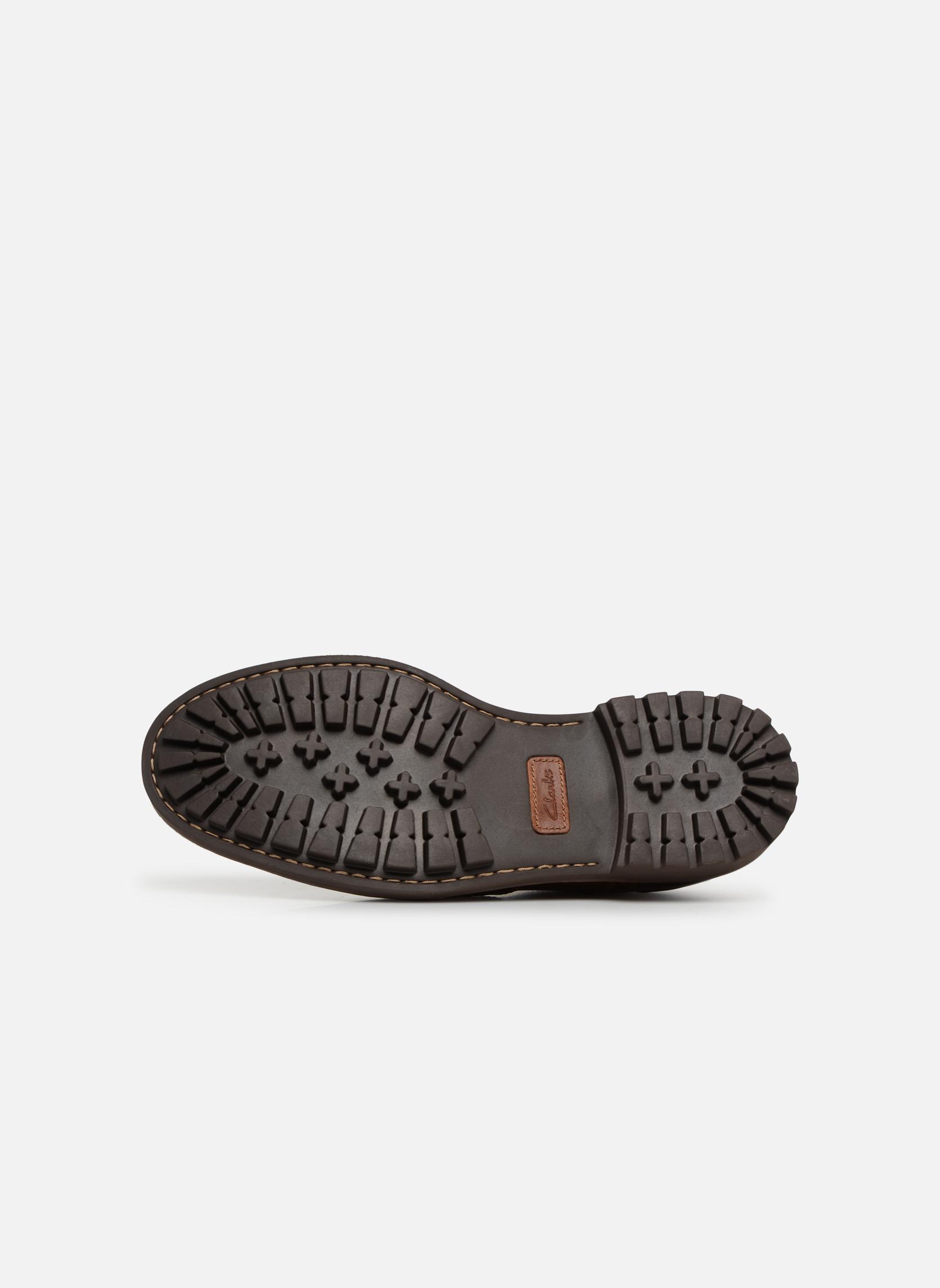 Chaussures à lacets Clarks Montacute Wing Marron vue haut