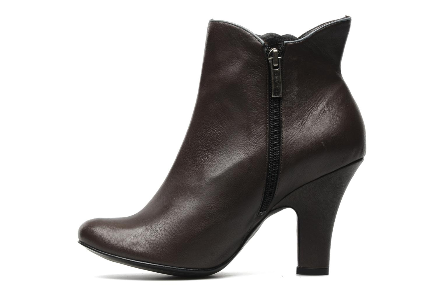 Ankle boots Bocage Ikeio Brown front view