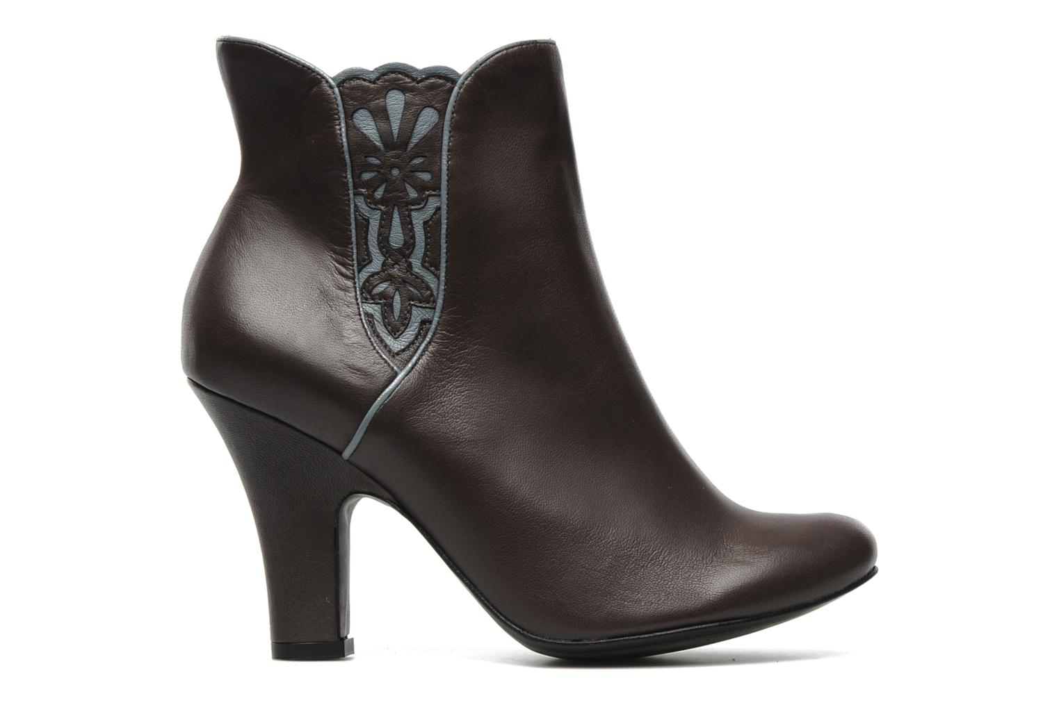 Ankle boots Bocage Ikeio Brown back view