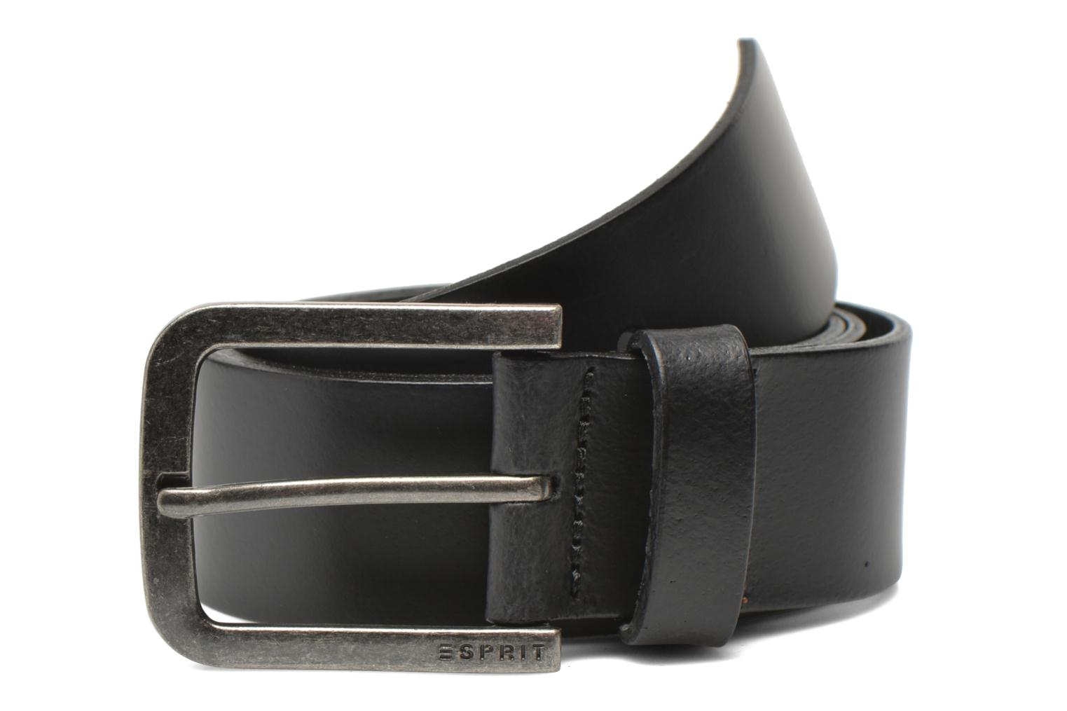 Riemen Esprit Zilan Leather Belt 40mm Zwart detail