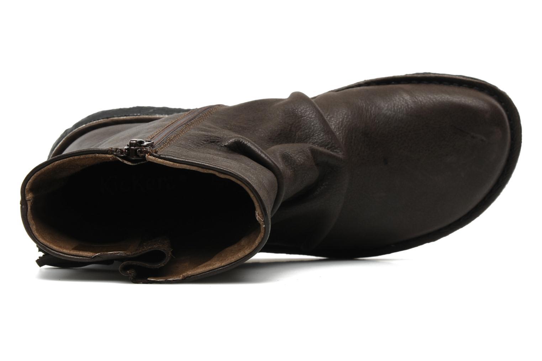 Bottines et boots Kickers KRAKOV Marron vue gauche