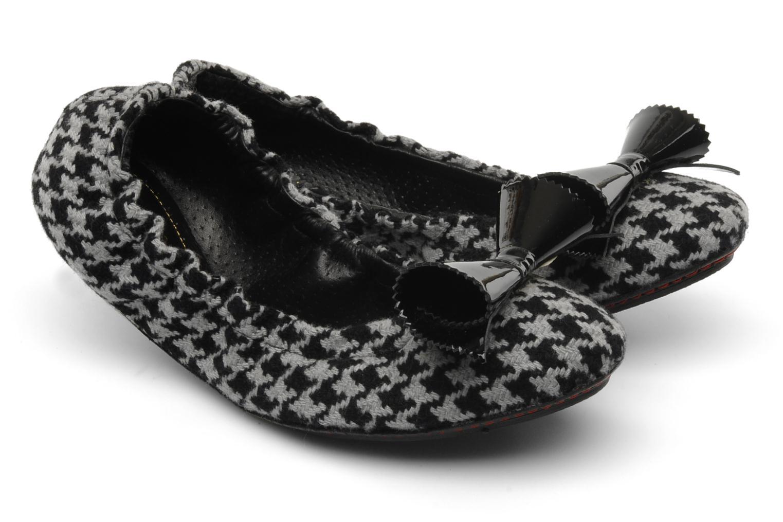 Binta Pied de poule gris et patent black