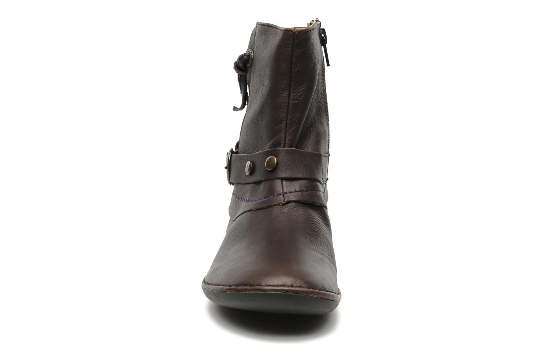 Bottines et boots Kickers EXTENDED Marron vue portées chaussures