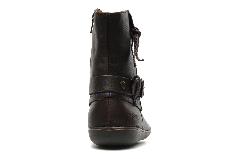 Bottines et boots Kickers EXTENDED Marron vue droite