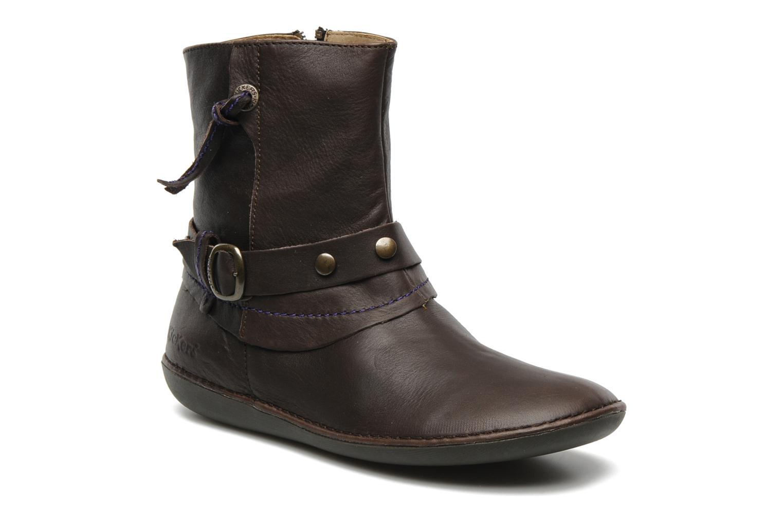 Bottines et boots Kickers EXTENDED Marron vue détail/paire