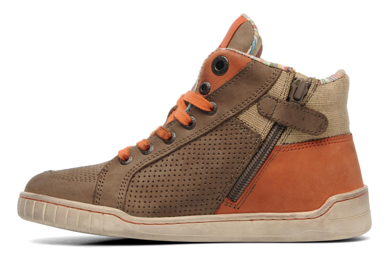 Sneakers Kickers Wincut Bruin voorkant
