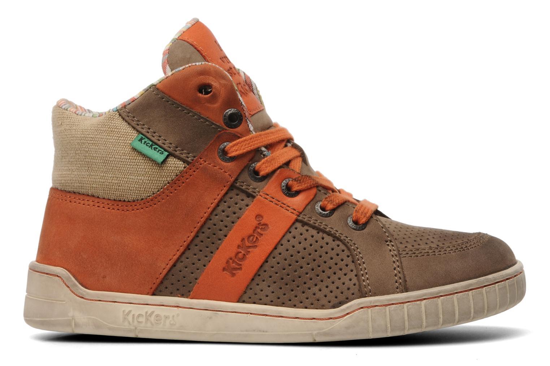 Sneakers Kickers Wincut Bruin achterkant