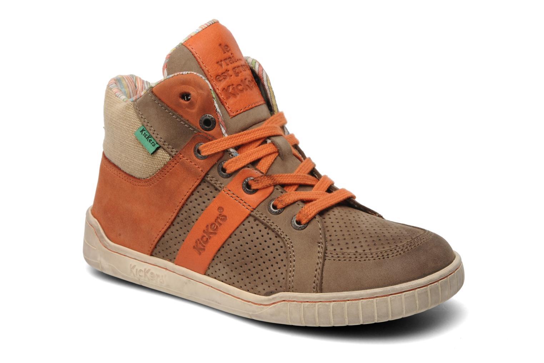 Sneakers Kickers Wincut Bruin detail