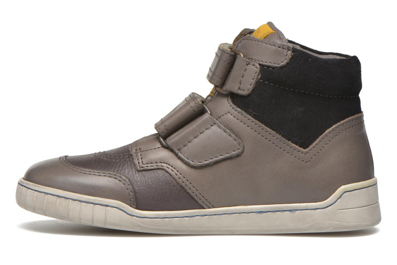 Chaussures à scratch Kickers Winsor Gris vue face