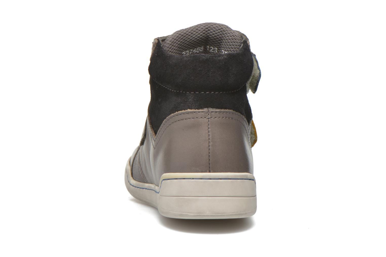 Chaussures à scratch Kickers Winsor Gris vue droite