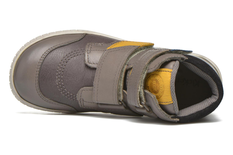 Chaussures à scratch Kickers Winsor Gris vue gauche