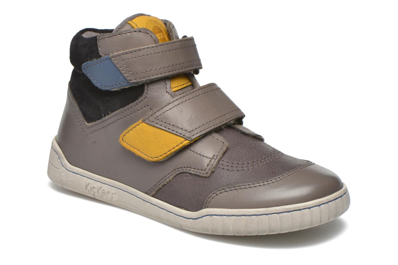 Chaussures à scratch Kickers Winsor Gris vue détail/paire