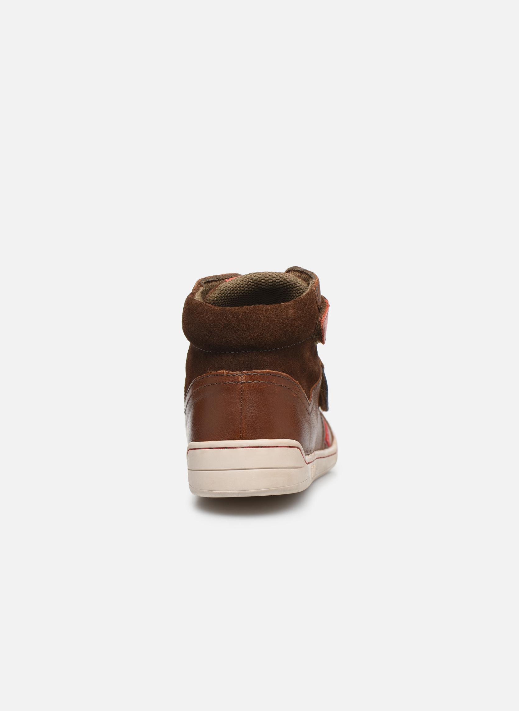 Chaussures à scratch Kickers Winsor Marron vue droite
