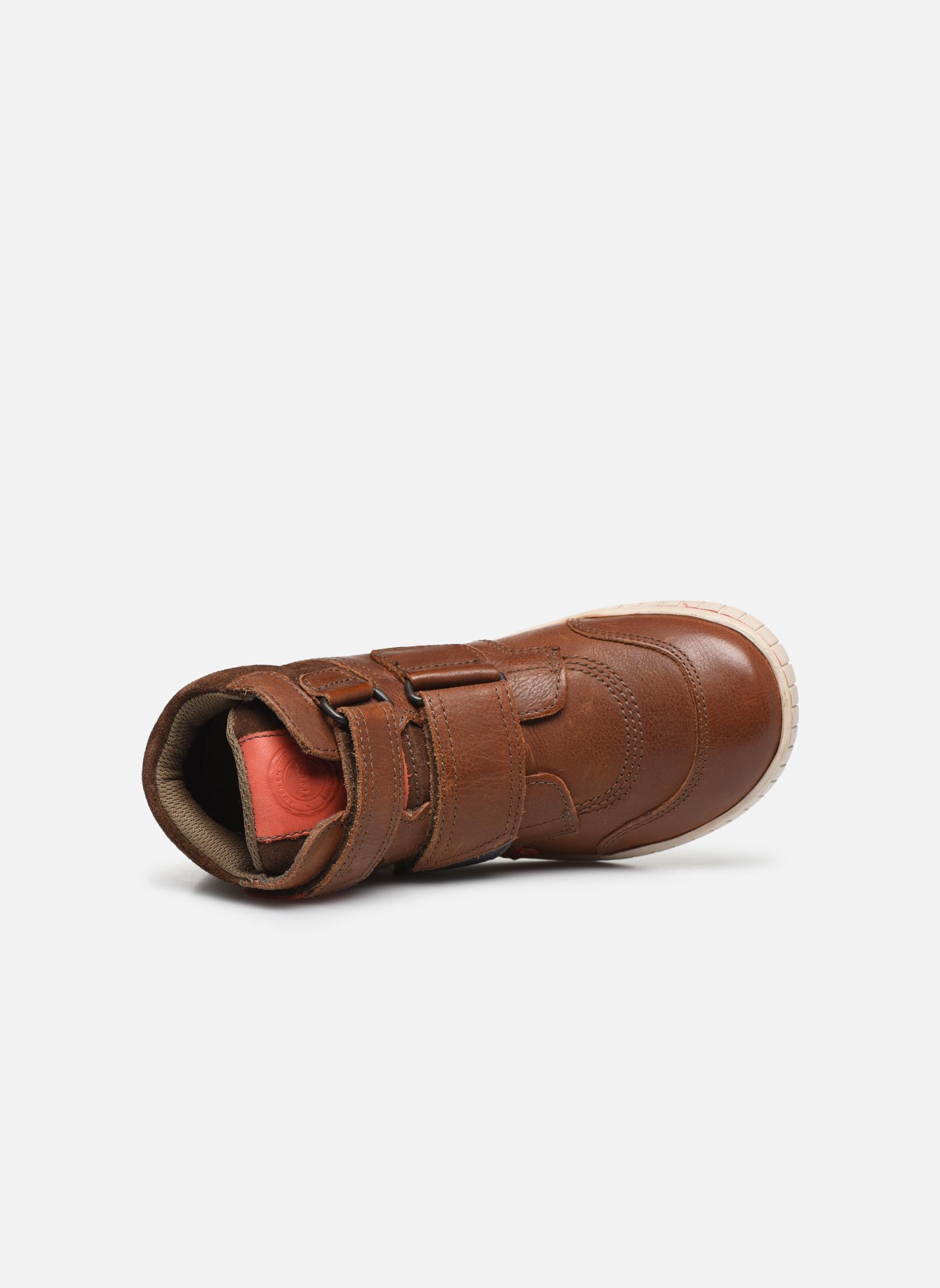 Zapatos con velcro Kickers Winsor Marrón vista lateral izquierda